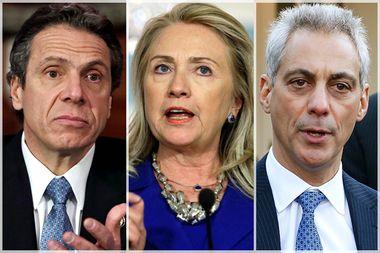 Andrew Cuomo, Hillary Clinton, Rahm Emanuel
