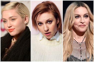 Miley Cyrus, Lena Dunham, Madonna
