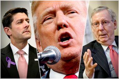 Paul Ryan, Donald Trump, Mitch McConnell
