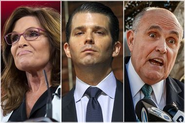 Sarah Palin; Donald Trump, Jr.; Rudy Giuliani