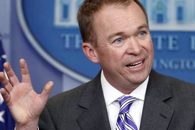 """Trump names Mick Mulvaney as """"acting"""" chief of staff"""