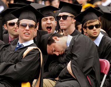 Boston College graduation ceremony