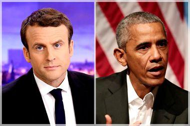 Emmanuel Macron; Barack Obama
