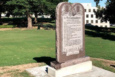 Ten Commandments Arkansas