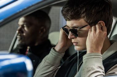 """Jamie Foxx and Ansel Elgort in """"Baby Driver"""""""