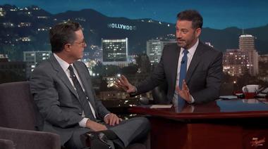 Image for Stephen Colbert to Jimmy Kimmel: Don't feel bad for Spicer