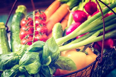 Basket With Organic Vegetables