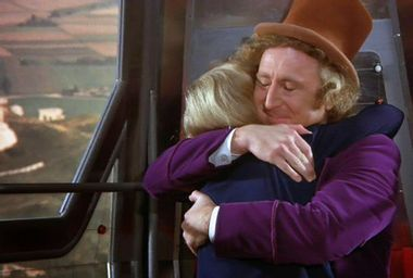 """Peter Ostrum and Gene Wilder in """"Willy Wonka & the Chocolate Factory"""""""