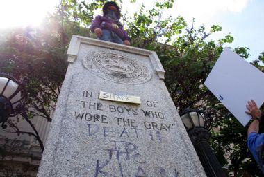 Protest against Confederate monument in Durham