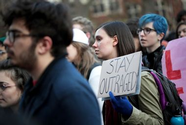 College students protesting