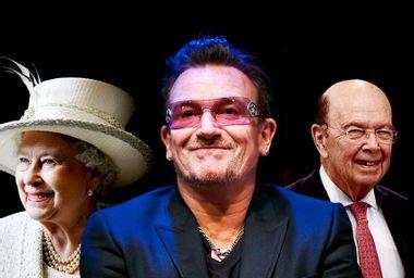 Queen Elizabeth; Bono; Wilbur Ross