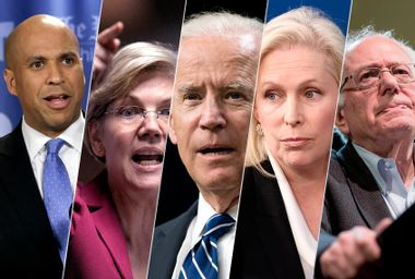 Cory Booker; Elizabeth Warren; Joe Biden; Kirsten Gillibrand; Bernie Sanders