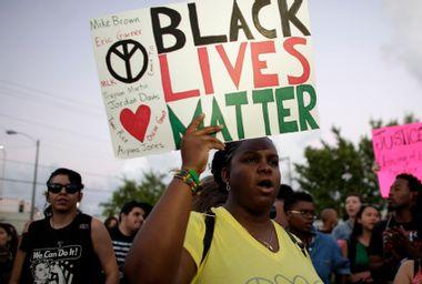 Black Lives Matter Protester