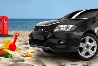 SUV on Beach