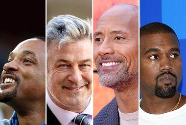 Will Smith; Alec Baldwin; Dwayne Johnson; Kanye West