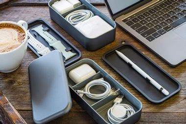 The BentoStack holds all of your Apple accessories in style