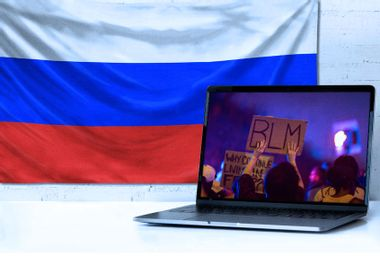 Black Lives Matter; Russian Flag