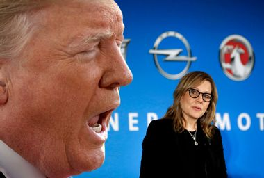 Donald Trump; General Motors CEO Mary Barra