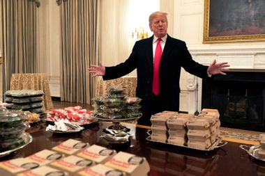 Cold Whoppers in the White House: A visual metaphor for the Trump presidency