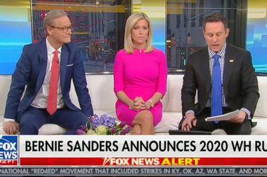 """""""Fox & Friends"""" co-hosts warn of the dangers of socialism after Bernie Sanders leaps into 2020 race"""