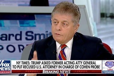 "Fox News' Judge Napolitano: NYT report demonstrates Donald Trump's ""corrupt intent"""