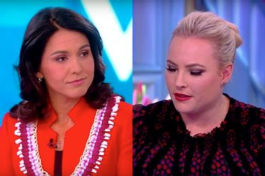 """Meghan McCain confronts Tulsi Gabbard over Bashar al-Assad: """"Is he an enemy of the United States?"""""""