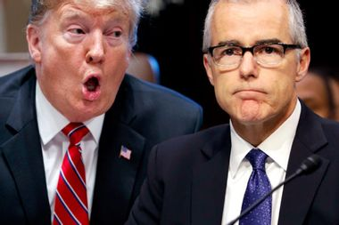 So much for the deep-state coup: Andrew McCabe told Congress he was investigating Trump