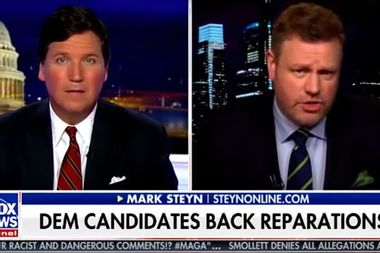 """Tucker Carlson guest tells black Americans """"you need to move on"""" from slavery on Fox News"""