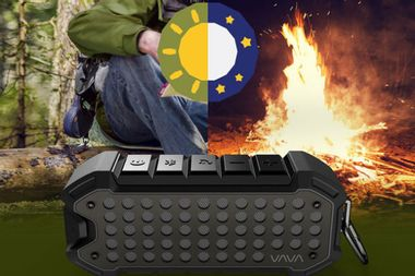 This rugged, outdoor-ready speaker lasts 24 hours