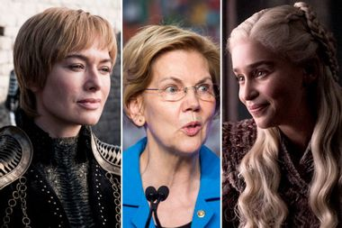 Elizabeth Warren backs Daenerys Targaryen to take the Iron Throne from the ruthless Cersei Lannister