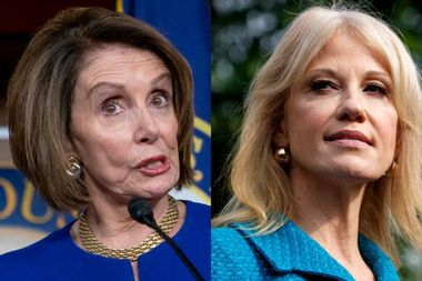 """After Trump walked out of meeting, Pelosi told Conway: """"I'm responding to the president, not staff"""""""