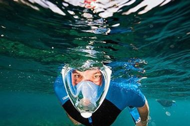 Explore the ocean with this full-face snorkel mask