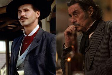 """Val Kilmer as Doc Holliday in """"Tombstone;"""" Ian McShane as Al Swearengen in """"Deadwood: The Movie"""""""