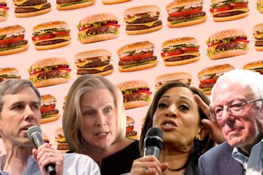 A number of Democrats running for president are kind of weird about food