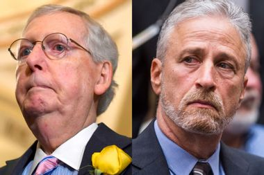 """Jon Stewart claims Mitch McConnell has used9/11 Victim Compensation Fund as a """"political football"""""""