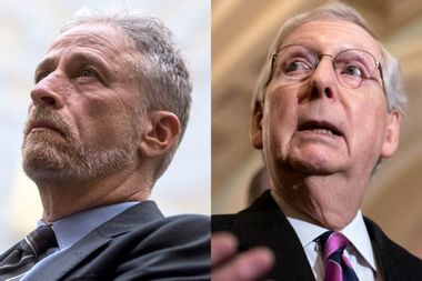"""Mitch McConnell claps back at Jon Stewart: """"I don't know why he's all bent out of shape"""""""