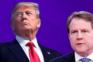 President Donald Trump; White House lawyer Don McGahn