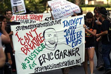 """We can't breathe"": Justice Department declines to charge officer in chokehold death of Eric Garner"
