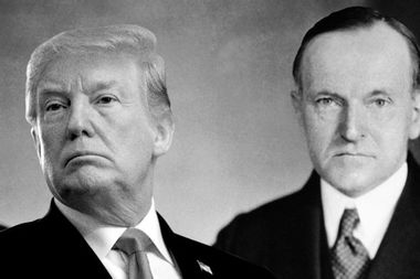Trump echoes Coolidge who stoked fear rather than face tech-based economic change he failed to stem