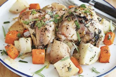Fix it, and forget it: This slow cooker lemon pepper chicken and veggies recipe is easy to prepare