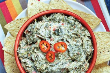 You won't believe this creamy spinach dip has less than 300 calories