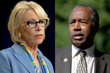 Betsy DeVos, Ben Carson send anti-trans signals to Trump's evangelical base