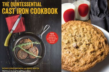 You only need to bake one chocolate chip cookie when it's the size of your dinner plate