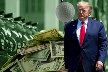 The military has spent more than $184,000 at Trump's Scottish golf club, House Democrats say