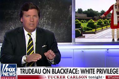 "Tucker Carlson defends Megyn Kelly's blackface scandal, calls Justin Trudeau ""racist"""
