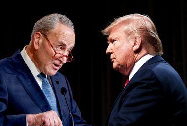 Donald Trump and Chuck Schumer