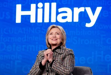 """Hillary Clinton discusses being """"the Rorschach test for women"""" and urges voters to take out Trump"""