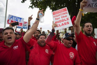 AT&T strike CWA
