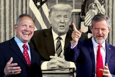 Donald Trump; Roy Moore; Jerry Falwell Jr.