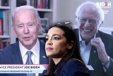 Alexandria Ocasio-Cortez; Joe Biden; Bernie Sanders